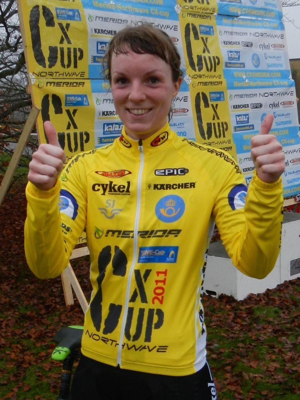 Lisa Ström i den gula ledartröjan